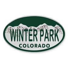 Winterpark Colo License Plate Decal