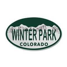 Winterpark Colo License Plate Wall Decal