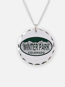 Winterpark Colo License Plate Necklace