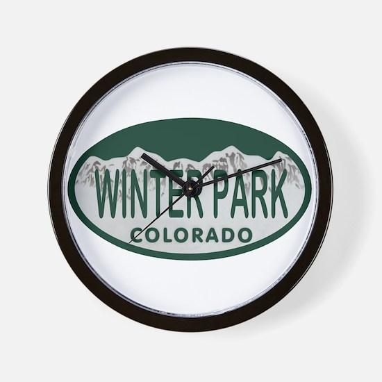 Winterpark Colo License Plate Wall Clock