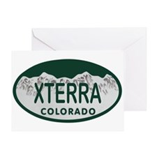 Xterra Colo License Plate Greeting Card