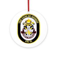 USS Cape St. George CG 71 Ornament (Round)