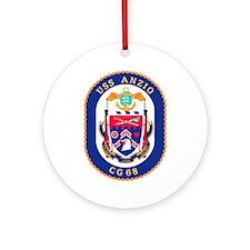 USS Anzio CG 68 Ornament (Round)
