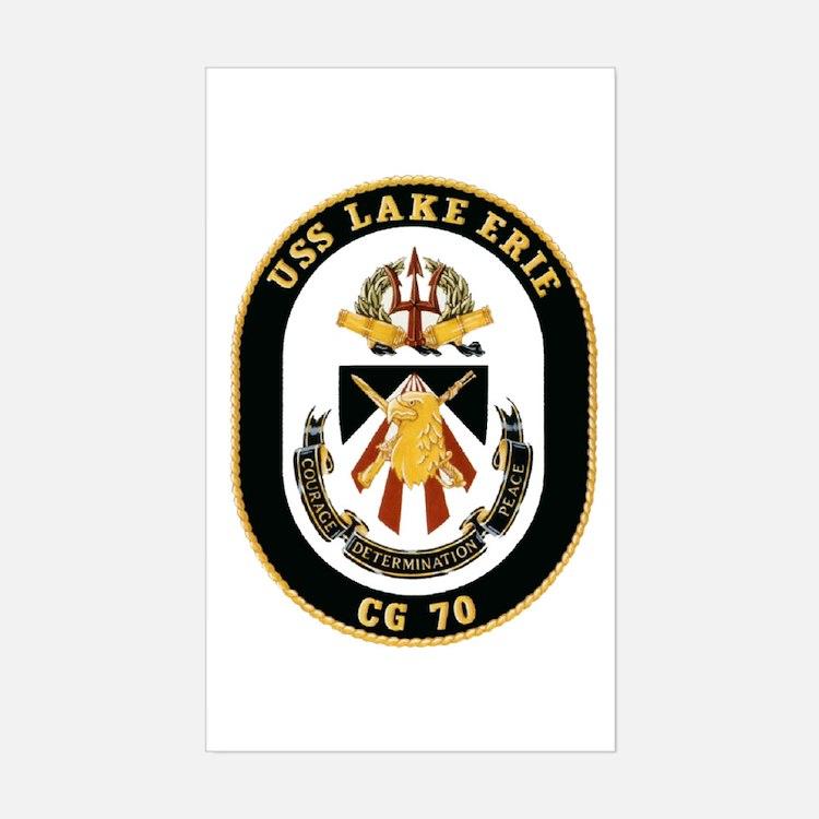 USS Lake Erie CG 70 Rectangle Decal
