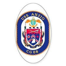 USS Anzio CG 68 Oval Decal