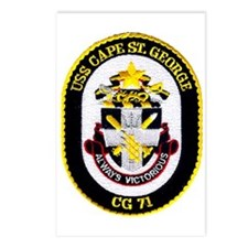 USS Cape St. George CG 71 Postcards (Package of 8)