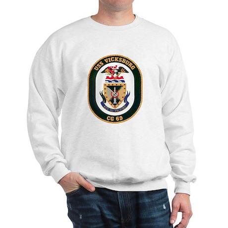 USS Vicksburg CG 69 Sweatshirt