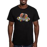 Gecko Heart Men's Fitted T-Shirt (dark)