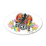 Gecko Heart 22x14 Oval Wall Peel