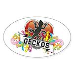 Gecko Heart Sticker (Oval)