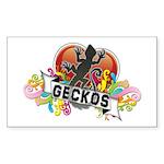 Gecko Heart Sticker (Rectangle)