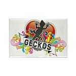Gecko Heart Rectangle Magnet