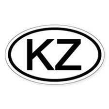 KZ - Initial Oval Oval Decal