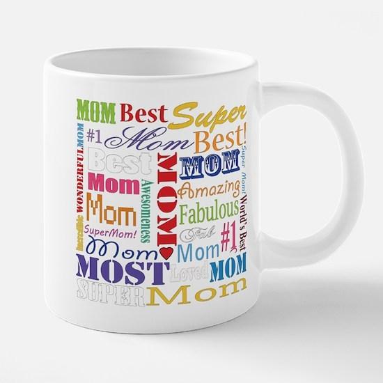 Text Mom 20 oz Ceramic Mega Mug