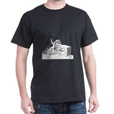 Cinder Girl Pen & Ink Black T-Shirt