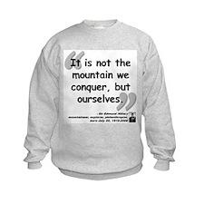 Hillary Conquer Quote Sweatshirt