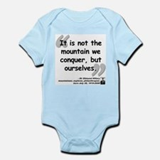 Hillary Conquer Quote Infant Bodysuit