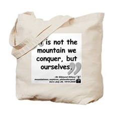 Hillary Conquer Quote Tote Bag