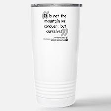 Hillary Conquer Quote Travel Mug