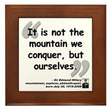 Hillary Conquer Quote Framed Tile
