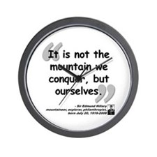 Hillary Conquer Quote Wall Clock