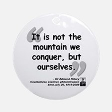Hillary Conquer Quote Ornament (Round)