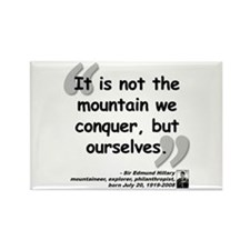 Hillary Conquer Quote Rectangle Magnet