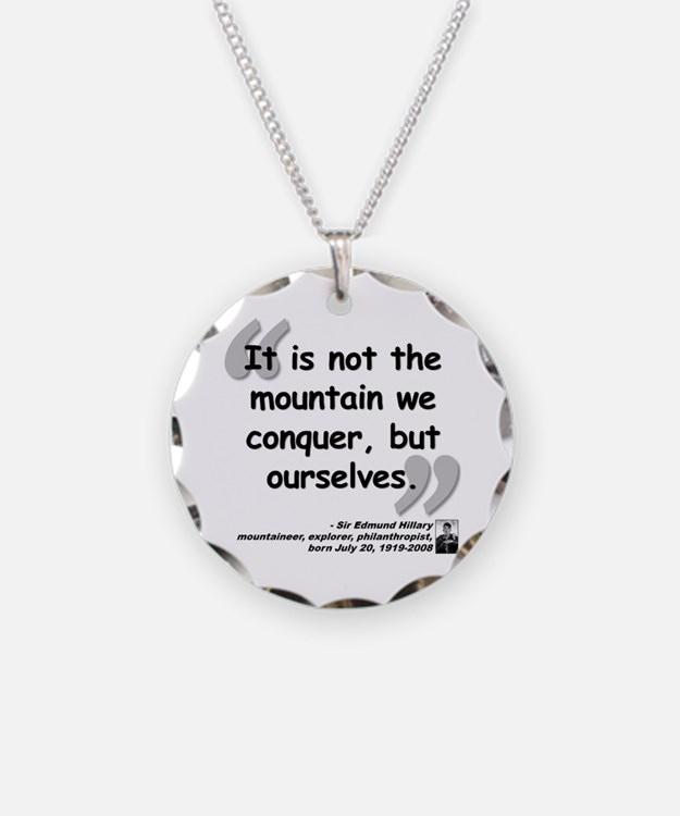 Hillary Conquer Quote Necklace