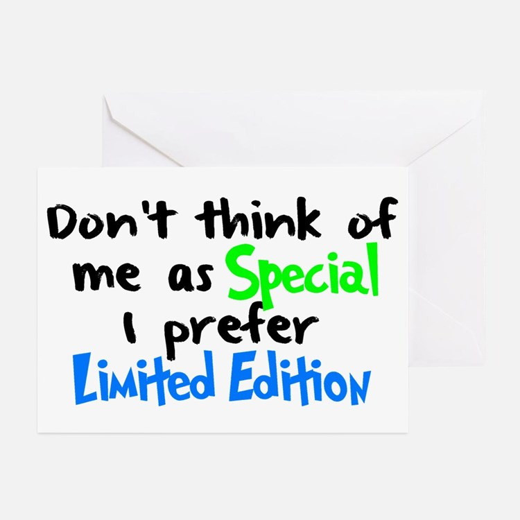 Limited Edition Green/Blue Greeting Cards (Pk of 1
