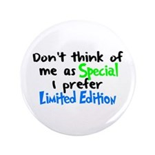 """Limited Edition Green/Blue 3.5"""" Button"""