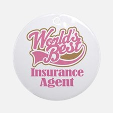 Insurance Agent Gift Ornament (Round)