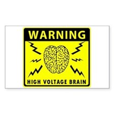 High Voltage Brain Decal