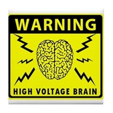 High Voltage Brain Tile Coaster