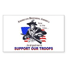 SUPPORT OUR TROOPS Rectangle Decal