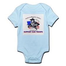 SUPPORT OUR TROOPS Infant Creeper