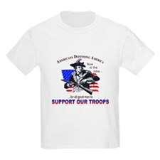 SUPPORT OUR TROOPS Kids T-Shirt
