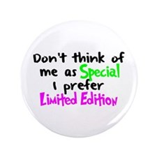 """Limited Edition Green/Pink 3.5"""" Button"""