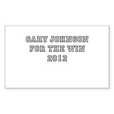 Gary Johnson For President 20 Decal