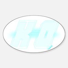 KO Sticker (Oval)