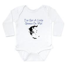 Little Greece On Me Long Sleeve Infant Bodysuit
