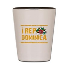 I rep Dominican Shot Glass