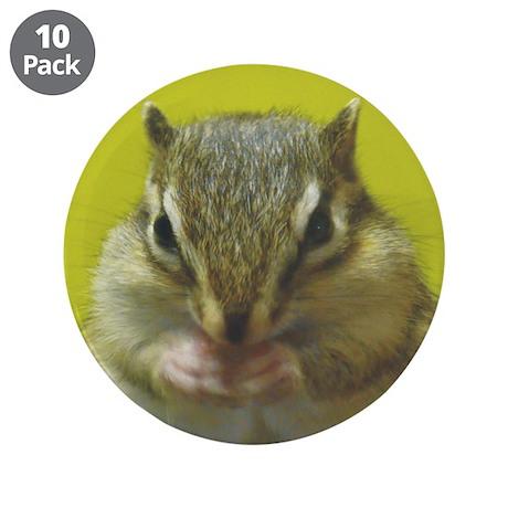 """Chipmunk 3.5"""" Button (10 pack)"""