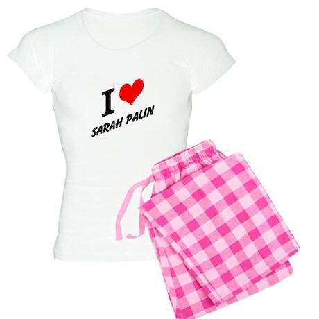 I (heart) Sarah Palin Women's Light Pajamas
