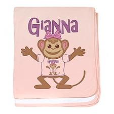 Little Monkey Gianna baby blanket