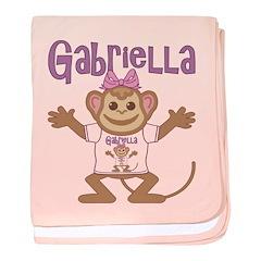 Little Monkey Gabriella baby blanket
