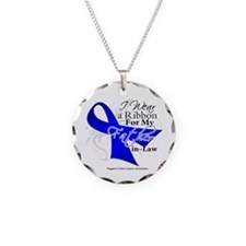 Father-in-Law Colon Cancer Necklace Circle Charm