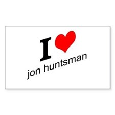 I (heart) Jon Huntsman Decal