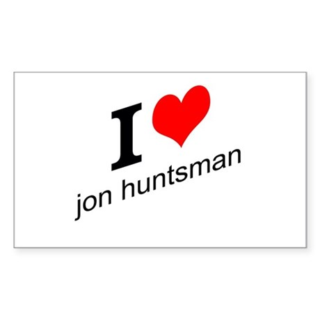 I (heart) Jon Huntsman Sticker (Rectangle)