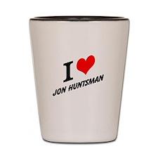 I (heart) Jon Huntsman Shot Glass