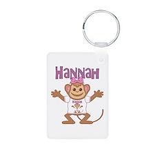Little Monkey Hannah Aluminum Photo Keychain